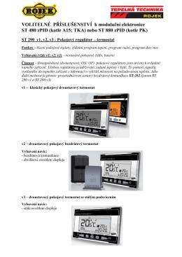 VOLITELNÉ PŘÍSLUŠENSTVÍ k modulační elektronice