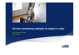ISTA: On-line monitoring nákladů na topení a vodu
