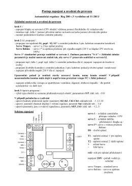 Automatická regulace RMT Reg001