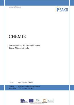 CHEMIE - Projekt SAKO