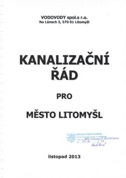 kanalizačním řádu. - VODOVODY Litomyšl
