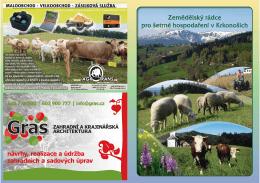 Zemědělský rádce pro šetrné hospodaření v Krkonoších