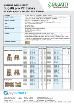 Mosazné svěrné spojky na vodu a plyn pro PE trubky_A4 4_4