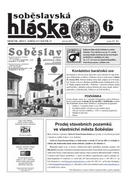 červen 2011 - Město Soběslav