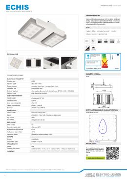 Svítidlo ECHIS produktový list CZ.pdf - ELEKTRO