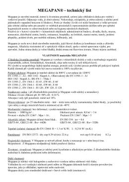 MEGAPAN® - technický list