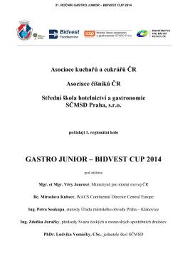 GASTRO JUNIOR – BIDVEST CUP 2014