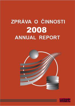 Zpráva o činnosti v roce 2008