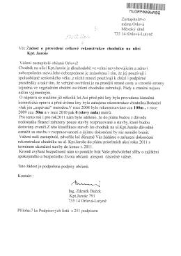 Yěc:Žádost o provedení celkové rekonstrukce chodníku na ulici Kpt