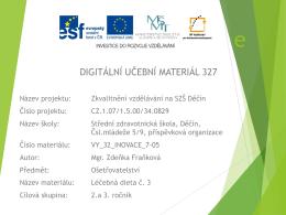 Dieta 3 - racionální Indikace - Střední zdravotnická škola Děčín