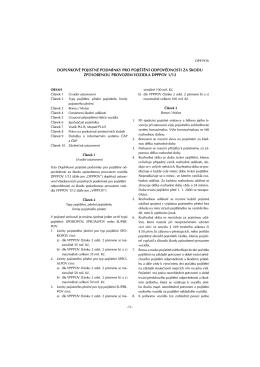 doplňkové pojistné podmínky pro pojištění odpovědnosti za