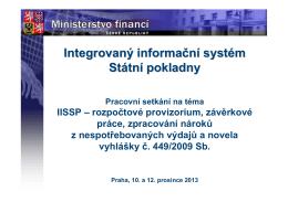 RIS-Prezentace IISSP