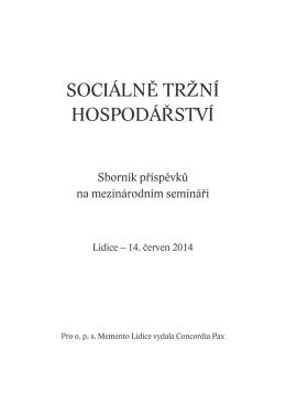 sociálně tržní hospodářství - Pracovní skupina pro sociální otázky