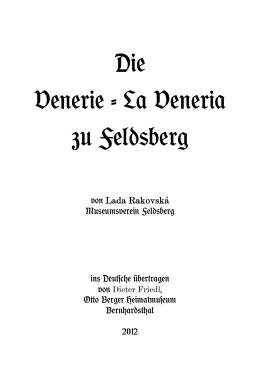 Die Venerie - La Veneria zu Feldsberg