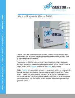 Webový IP teploměr iSenzor T-MK3