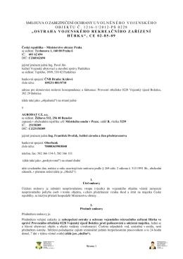 Celé znění smlouvy - z 22.05.2012 - Veřejné zakázky