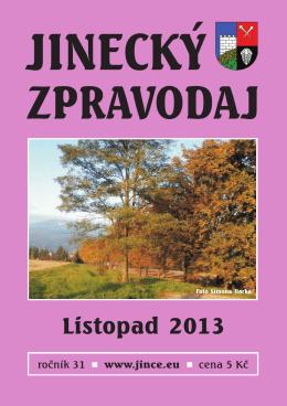 Jinecký zpravodaj - listopad 2013