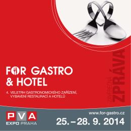 ZPRÁVAZÁVĚREČNÁ - for gastro & hotel 2014