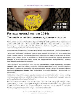 festival arabské kultury 2014 - Západočeská univerzita v Plzni