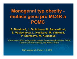 mutace genu pro MC4R a POMC