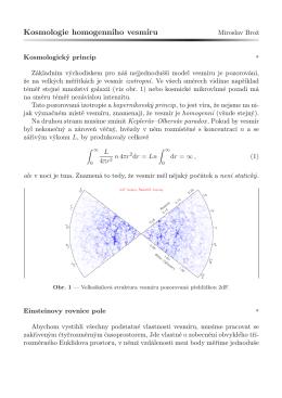 Kosmologie homogenního vesmíru