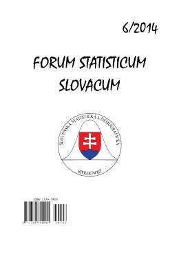 ISSN 1336-7420 - Slovenská štatistická a demografická spoločnosť