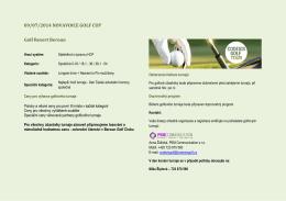 Informace o turnaji ke stažení