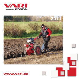 Malotraktory VARI katalog