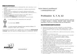 Profession - Postřikovače Marolex