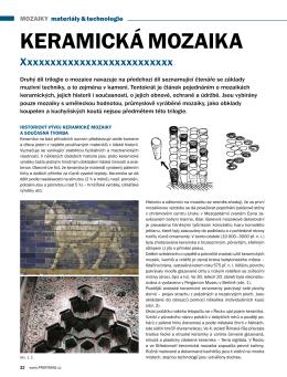 Mozaika trilogie - keramická
