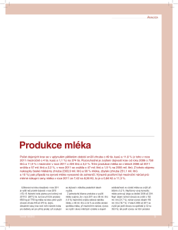 Produkce mléka