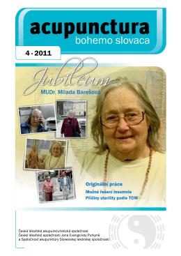 2011 - 4 - Česká lékařská akupunkturistická společnost