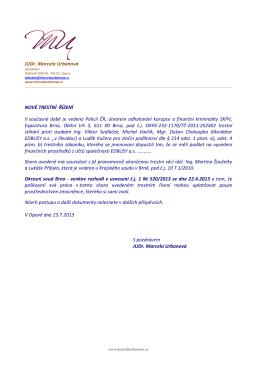 nové trestní řízení - okfk-232-1170/tč-2011-252402