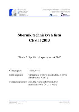 Sborník technických listů CESTI 2013