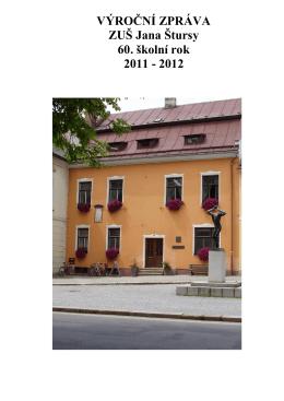 2011-2012 - ZUŠ Jana Štursy Nové Město na Moravě