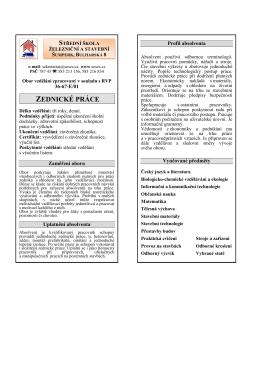 zednícké práce - Střední škola železniční a stavební, Šumperk