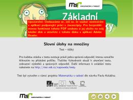 Slovní úlohy na množiny - Web projektu Matematika s radostí
