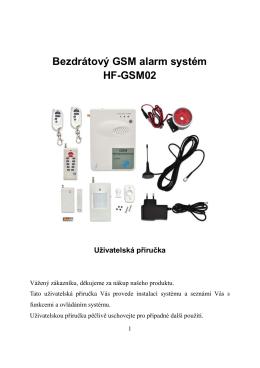 Bezdrátový GSM alarm systém HF
