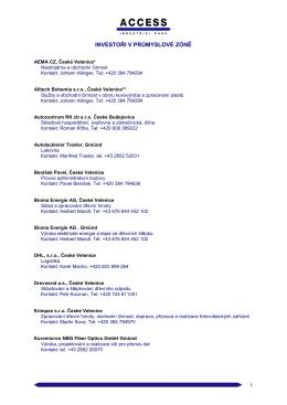 Přehled investorů k stáhnutí (PDF)