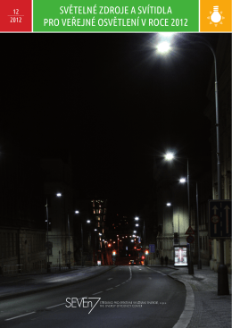 světelné zdroje a svítidla pro veřejné osvětlení v roce