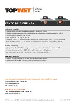 CENÍK 2015 EUR - SK