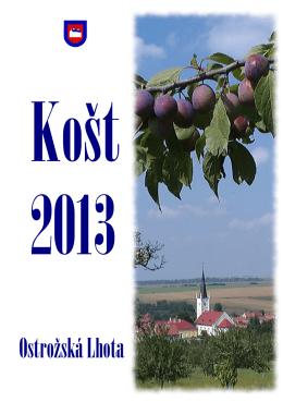 Katalog 2013 - Mužský pěvecký sbor Ostrožská Lhota