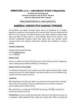 Vzrostlé stromy - ekozahradnictvi.cz