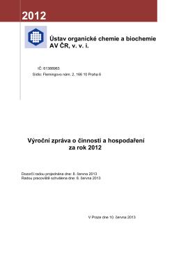 Výroční zpráva o činnosti a hospodaření za rok 2012