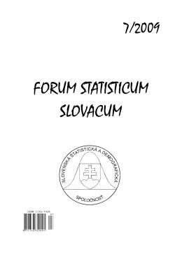 číslo 7 - Slovenská štatistická a demografická spoločnosť