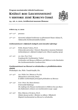 Program - PhDr. Marek Vařeka, Ph.D.