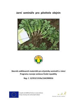 Jarní semináře pro pěstitele olejnin Sborník vzdělávacích