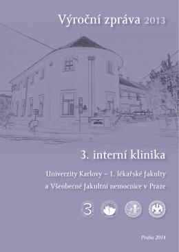 Výroční zpráva 2013 - 3. interní klinika