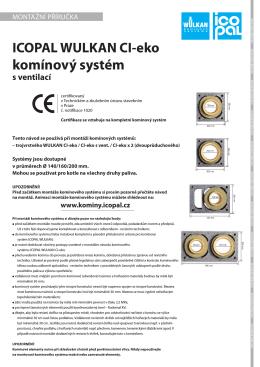 Komínový systém Icopal Wulkan CI-eko