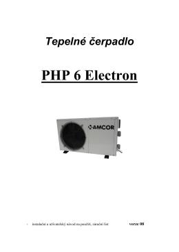 Tepelné čerpadlo PHP 6 Electron